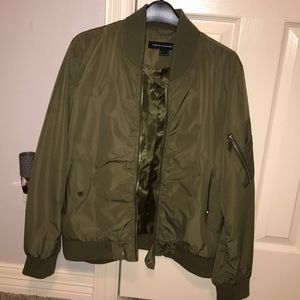 French Connection Green Bomber Jacket